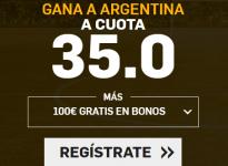 ESPAÑA GANA A ARGENTINA A CUOTA 35.0